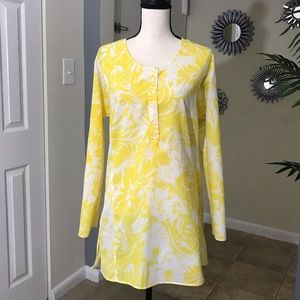 J. Crew Yellow Floral Beach Coverup